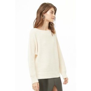 NWT Forever21 - Ribbed boat neck sweater
